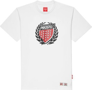 T-shirt Prosto. z krótkim rękawem w młodzieżowym stylu z bawełny