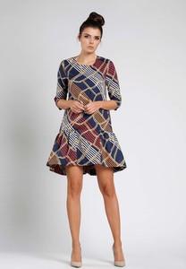 Sukienka Nommo w stylu klasycznym z okrągłym dekoltem mini