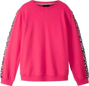Różowa bluza dziecięca bonprix bpc bonprix collection