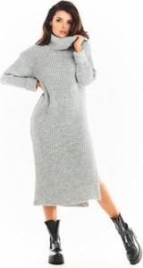 Sukienka Awama z golfem z długim rękawem