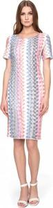 Sukienka POTIS & VERSO z okrągłym dekoltem z krótkim rękawem