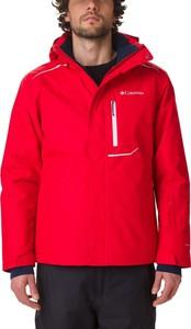 Czerwona kurtka Columbia w stylu casual