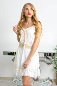 Sukienka Olika w stylu boho z dekoltem w kształcie litery v na ramiączkach