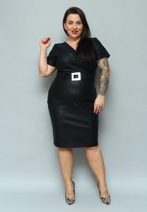 Sukienka KARKO midi z krótkim rękawem