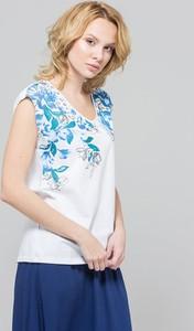 T-shirt Monnari z bawełny z okrągłym dekoltem