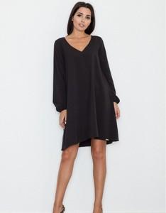 Czarna sukienka Figl mini trapezowa