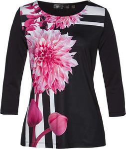 Czarna bluzka bonprix bpc selection z długim rękawem