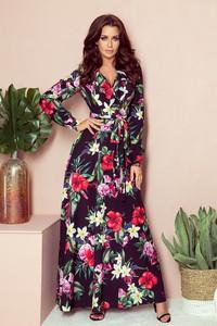 Sukienka NUMOCO z dekoltem w kształcie litery v z tkaniny