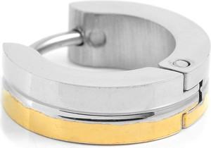 Trendhim Dwukolorowy srebrno-złoty kolczyk