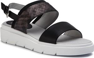 Czarne sandały Geox z klamrami w stylu casual