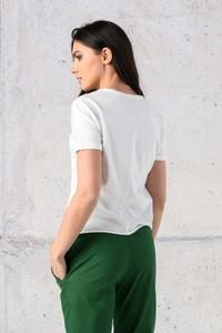 T-shirt Nessi Sportswear z bawełny z okrągłym dekoltem