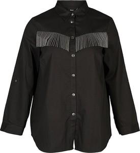 Bluzka Zizzi z okrągłym dekoltem z długim rękawem