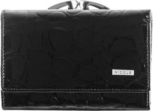 Czarny portfel Nicole