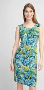 Sukienka QUIOSQUE mini prosta z okrągłym dekoltem