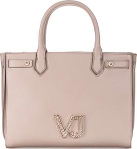 Różowa torebka Versace Jeans w stylu casual