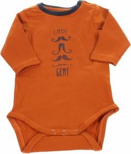 Pomarańczowe body niemowlęce Name it dla chłopców
