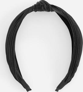 Reserved - Plisowana opaska na włosy - Czarny