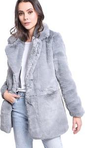 szary płaszcz damski stylowo i modnie z Allani