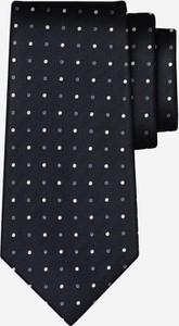 Granatowy krawat Wólczanka z jedwabiu