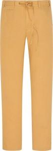 Żółte spodnie Cotton Slacks w stylu casual z lnu
