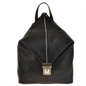 Czarny plecak Vera Pelle ze skóry