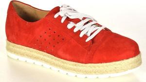 Ann mex 8605 14d czerwona półbuty damskie