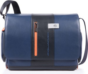 Niebieska torebka PIQUADRO ze skóry średnia
