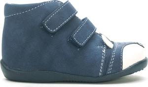 Turkusowe buty dziecięce zimowe Kornecki na rzepy