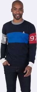 Granatowy sweter Giorgio Di Mare z bawełny