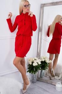 Czerwona sukienka Fasardi w stylu casual mini