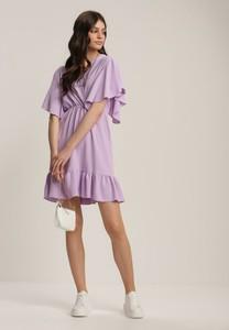 Fioletowa sukienka Renee mini z okrągłym dekoltem