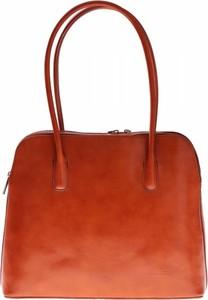 Czerwona torebka Vera Pelle na ramię w stylu casual lakierowana