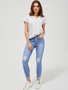 Niebieskie jeansy Moodo z bawełny