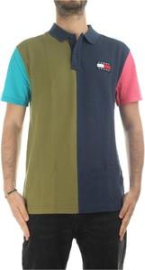 Zielony t-shirt Tommy Hilfiger z bawełny