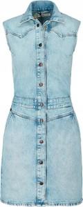 Niebieska sukienka Lee mini bez rękawów