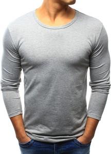 Szara koszulka z długim rękawem dstreet z długim rękawem z poliestru