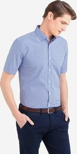 da97803ebf1958 Niebieska koszula Wólczanka z krótkim rękawem w stylu casual z tkaniny
