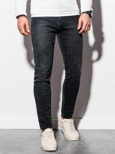 Czarne spodnie Ombre z jeansu