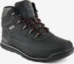 Czarne buty zimowe Gemre.com.pl sznurowane