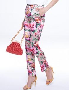 Różowe spodnie L'AF w stylu boho