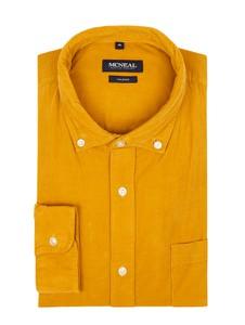 Żółta koszula McNeal z bawełny z kołnierzykiem button down