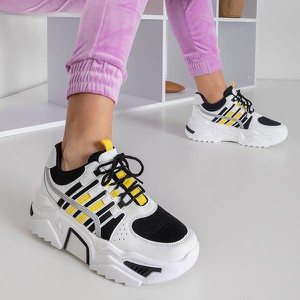Buty sportowe Royalfashion.pl sznurowane na platformie