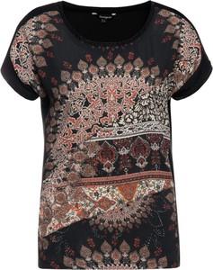 T-shirt Desigual z okrągłym dekoltem w stylu casual z krótkim rękawem