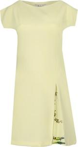 Sukienka Fokus z krótkim rękawem z tkaniny z dekoltem w łódkę