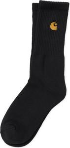 Czarne skarpetki Carhartt WIP dla dziewczynek z bawełny