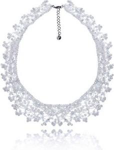 POLSKA Uroczy ślubny naszyjnik w stylu Glamour biały