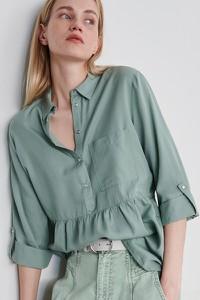 Zielona koszula Reserved z długim rękawem