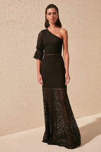 Czarna sukienka Trendyol maxi