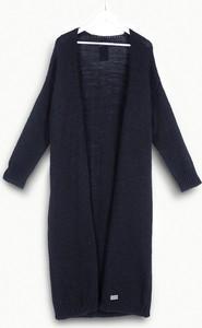 Granatowy sweter Freeshion z wełny w stylu casual