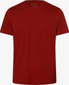 Czerwony t-shirt ARMEDANGELS w stylu casual